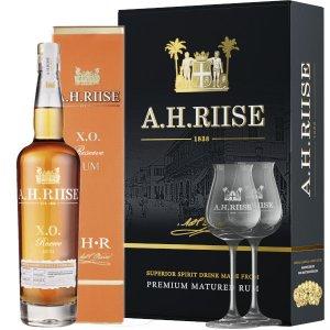 Coffret AH Riise XO Reserve avec 2 verres de dégustation