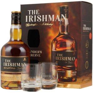 Coffret Irishman Founder's Reserve avec 2 verres