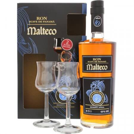 Ron Malteco 10 ans - Coffret avec 2 verres
