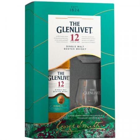 Coffret Whisky The Glenlivet 12 ans avec 2 verres