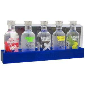 Coffret 5 mignonnettes aromatisées - Absolut Vodka