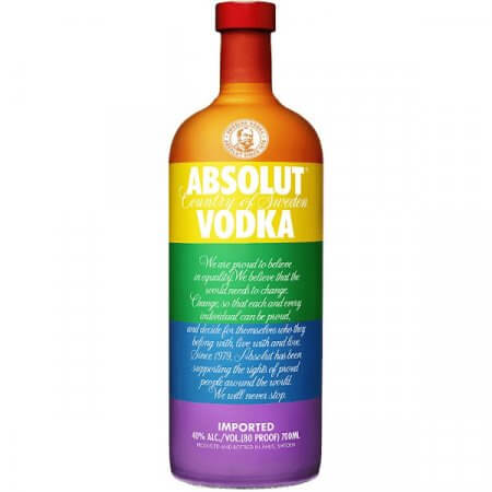Vodka Absolut Pride - Rainbow Colors